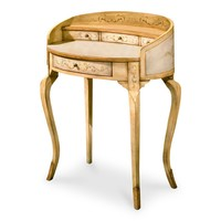 Damosel Traditional Oval Ladies Writing Desk Beige