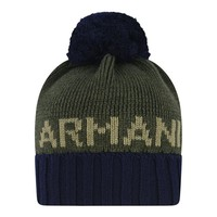 Baby Boys Green and Navy Knitted Hat