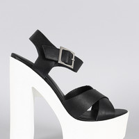 Dollhouse Cross Straps Platform Heel