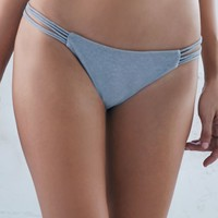 Billabong It's All About The Details Strappy Bikini Bottom - Womens Swimwear - Gray
