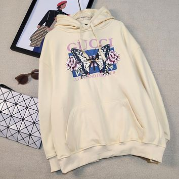 Gucci flower butterfly hood and plush