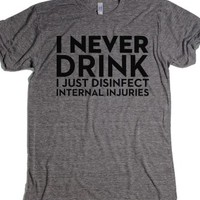 Athletic Grey T-Shirt | Funny Party Shirts