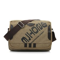 Vere Gloria Mens Casual Canvas Cross Body Bags Lapto Shoulder Bags School Messenger Bags for Middle High School College Students