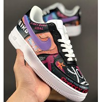 NIKE  Air Force 1 AF1 Graffiti-painted hip-hop fashion sneakers
