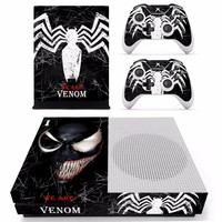 Spider man and Venom Skin Sticker Decal For Microsoft Xbox One S Console and 2 Controllers For Xbox One S Skins Sticker Vinyl