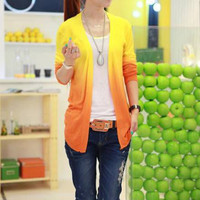 Giana Ink Print Ombre Cardigan