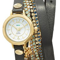 La Mer Collections 'Del Mar' Leather Strap Wrap Watch, 25mm | Nordstrom