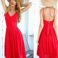 Red Crush Dress - Lucky Duck Boutique