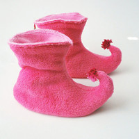 Pink Fairy Princess Slippers by babycricket on Etsy