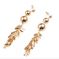 New fashion jewelry retro personality gold-plated tassel earrings