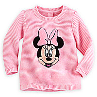 Minnie Mouse Knitted Sweater for Baby