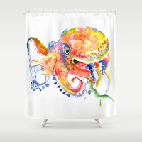 Octopus Shower Curtain by SurenArt