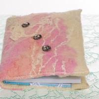 "Felted Mini A6 notebook covers ""3 to Shine!"" refillable, notebook inside, handmade"