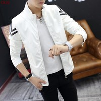 new spring men collar leather jacket size mlxl