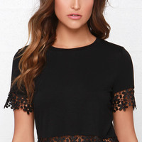 Glamorous Driving Me Daisy Black Crop Top