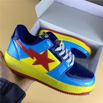 Foot Soldier Bape Sta Yellow Blue/red Star Sneaker Shoe 36 45