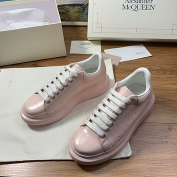 ALEXANDER MCQUEEN Men's And Women's Leather Fashion Low Top Sneakers Shoes