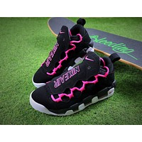 Sneaker Room x Nike Air More Money QS Black Pink Retro Basketball Shoes