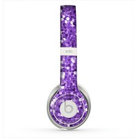 The Purple Shaded Sequence Skin for the Beats by Dre Solo 2 Headphones