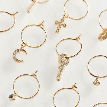 Delicate Charm Hoop Earring | Urban Outfitters