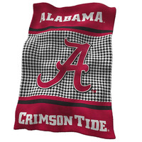 Alabama Crimson Tide NCAA UltraSoft Fleece Throw Blanket (84in x 54in)