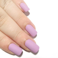 Matte False Nails - Short Press On Nails - Oval Glue On Nails - Stiletto Fake Nails - Stick On Nails - Pointy Nails - False Nails with Glue