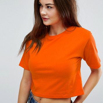 ASOS Crop T-Shirt In Oversized Boxy Fit at asos.com
