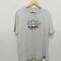 Keith Haring skateboard t-shirt pop art estate vintage
