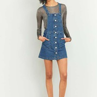 BDG Button-Down Blue Denim Pinafore Dress | Urban Outfitters