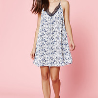 Kendall and Kylie Lace Trim Tie Back Dress at PacSun.com