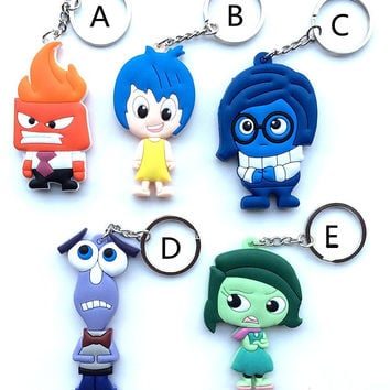 5 kinds of INSIDE OUT fashion keyrings FREE Just pay Shipping