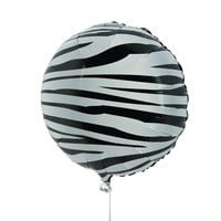 zebra print mylar balloon 3-piece set Case of 8
