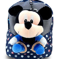Cartoon mouse kids mochila infantil backpack cute children kindergarten baby girls soft cotton plush school bag bookbag