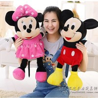 1pcs 50cm Mickey Mouse And Minnie Mouse Stuffed Animals Soft Plush Toys for Baby's Gift High Quality