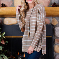 Hannaly Stripe Sweater - Taupe
