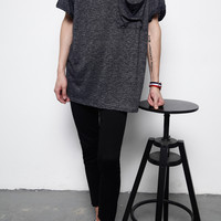 Textured-Knit Pocket Tee