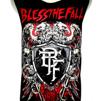 BLESSTHEFALL Rock Band Music Metal T Shirt Tank Top Singlet Vest Sleevless SIZE M