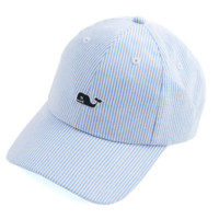 Vineyard Vines Seersucker Baseball Hat- Hydrangea