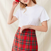 Vintage Plaid A-Line Skirt | Urban Outfitters