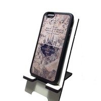 Marauders map Harry Potter inspired Iphone 6 (4.7-Inch) Black Flexible Soft TPU Case Slim Case for iPhone 6 (4.7) (2014)
