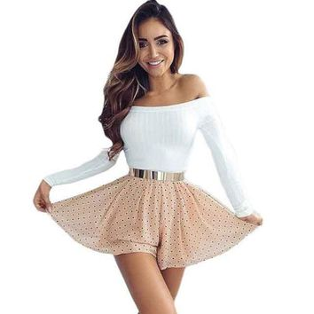 Knitted Strapless Top