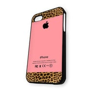 Apple Pink and Leopard Print iPhone 5/5S Case