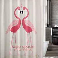 "New Kate Spade New Pink Flamingo Pink Custom Shower Curtain 60"" x 72"""