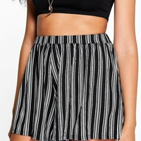 Anna Striped Flippy Shorts | Boohoo