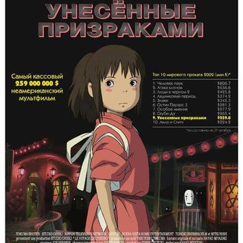 Miyazaki's Spirited Away (Russian) 11x17 Movie Poster (2001)