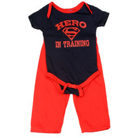 Superman Hero In Training Infant Onesuit Pants Set