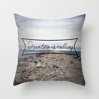 Beach Pillow Cover - Cover Only - Adventure is calling