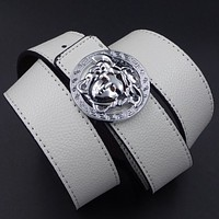 Versace men's fashion belt White