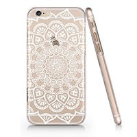 Supertrampshop - White Mandala - Cover Iphone 6 6s Full Protection Durable Transparent Plastic Case (VAS569)
