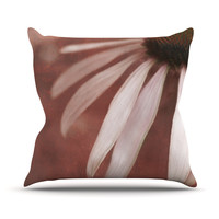 "Iris Lehnhardt ""Copper and Pale Pink"" Throw Pillow, 18"" x 18"" - Outlet Item"